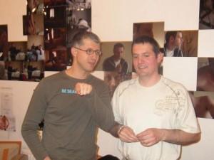 Patrick notre Trésorier (à droite), a terminé de présenter le bilan financier