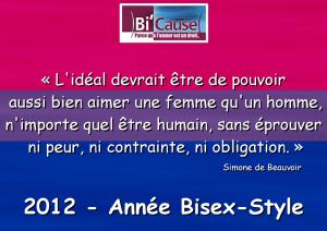 Calendrier 2012 avec sitation de simone de Beauvoir