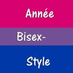 Année Bisex'style écrit sur le drapeau bisexuel