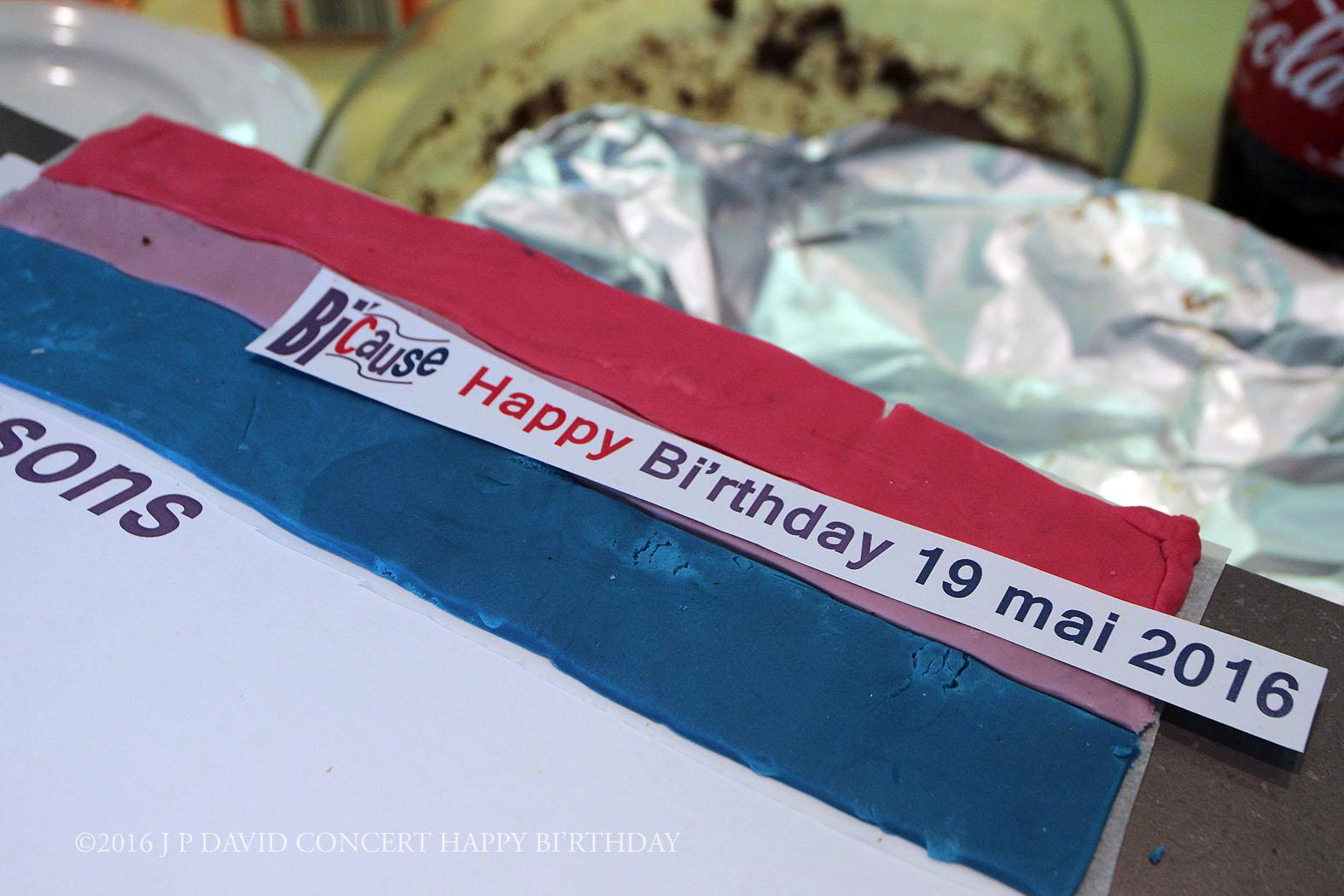 Le Flag de BI'Cause ©2016 J P David Concert Happy BI'rthday- 19_05 centre Mathis Paris 19ème ©2016 J P DAVID CONCERT HAP