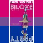 BiLove by Bi'Cause 2016 affiche sur drapeau