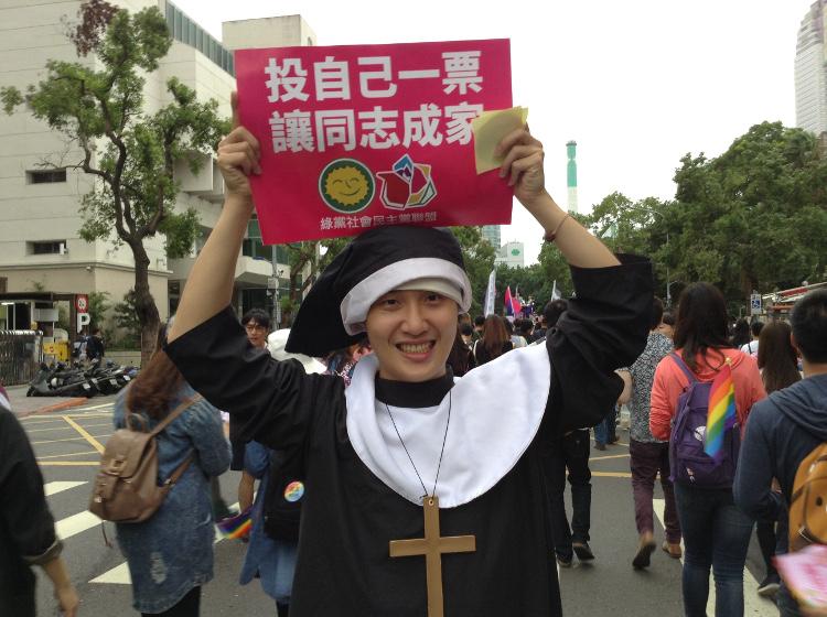 """r14_""""voter pour le le mariage de même sexe"""", la Marche des fiertés Taïwan 2016"""