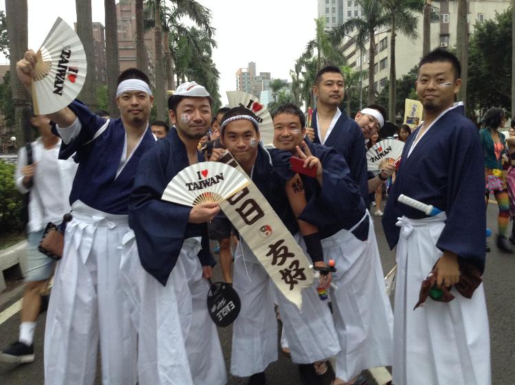 r5_un groupe japonais, la Marche des fiertés Taïwan 2016