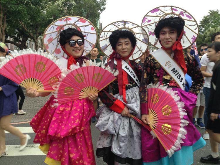 r6_un groupe  coréen, la Marche des fiertés Taïwan 2016