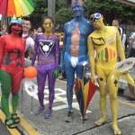 des corps peints, la Marche des fiertés Taïwan 2016