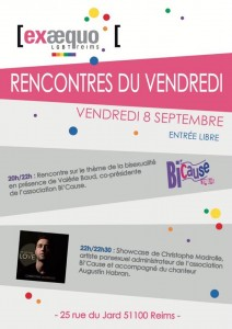 bicause à reims 8 septembre 2017 - affiche