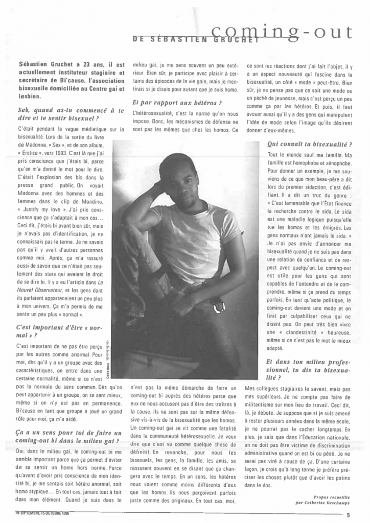 3 Keller 1998 - Interview de Sebastien