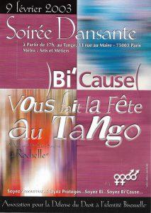 tract de la soirée dansante du 9 février 2003