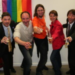 Les heureux élus du CA avec de gauche à droite, Jérôme, Michel/Marianne, Agnès, Nicolas, Eric
