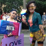 deux bi japonaises, la Marche des fiertés Taïwan 2016