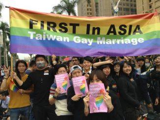 premiere légalisation du mariage de personne de meme genre en Asie